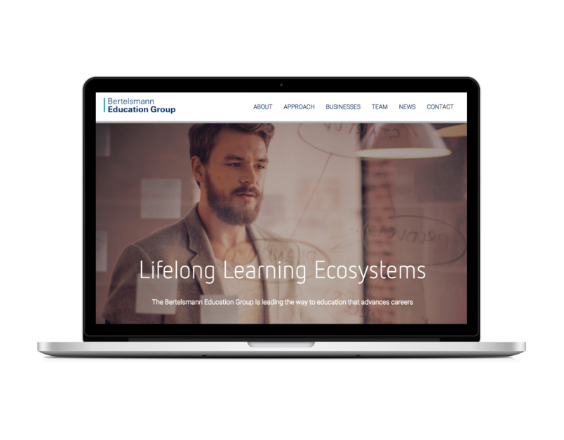 Launch Website für Bertelsmann Education Group